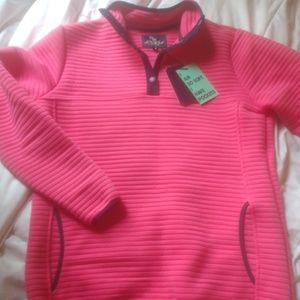 Simply Southern pink pullover with navy trim nwt